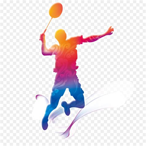 badminton motion graphics badminton players creative png
