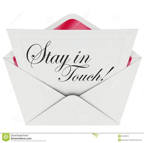 Closing Letter Keep In Touch Stay In Touch Letter Communication Keeping Updated Stock Illustration Image 43499275
