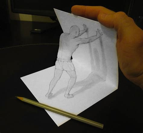 How To Make A 3d Drawing On Paper - ingenious like 3d objects seem to escape the drawing