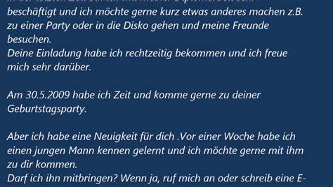 Einladung Zur Hochzeitsparty by Deutsche Brief A1 A2 B1 Pr 252 Fung Einladungsbrief 45