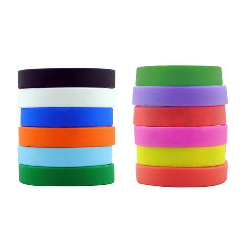 custom design rubber st promotional dozen silicone rubber bracelet