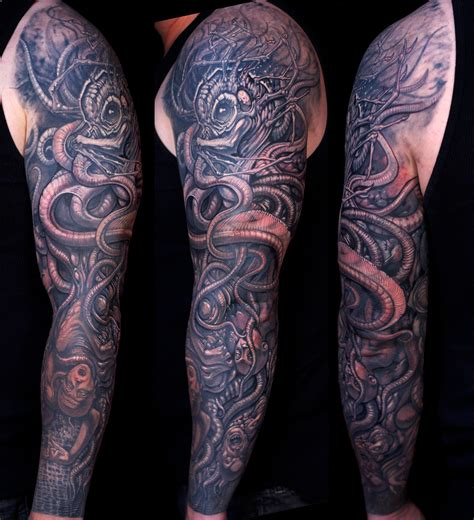 california sleeve tattoo kraken sleeve by paco dietz at graven image ca