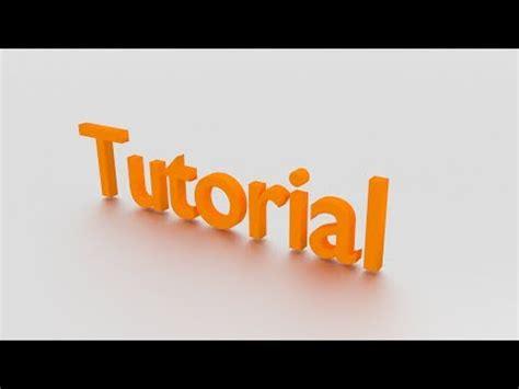 tutorial blender ita blender tutorial ita scritta stilizzata 1 youtube