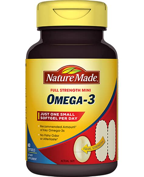 omega 3 supplements mini omega 3 supplement nature made 174
