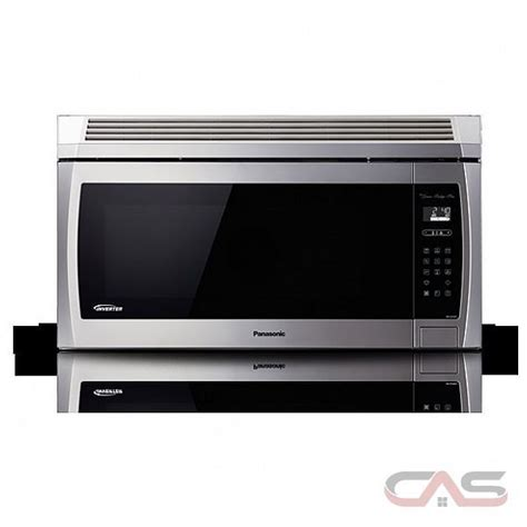 Microwave Panasonic 450 Watt panasonic nnse284s the range microwave 29 8 quot width 1100 watts 2 4 cubic ft led 450 cfm