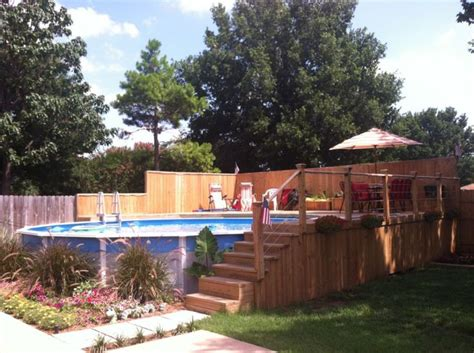 backyard builder pool deck plans for above ground pools beauty and
