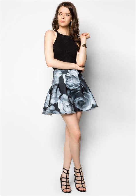 Rok Katun Beige Mini Span Motif Bunga Murah Cantik Baru Bjf067 model rok pendek wanita yang lagi booming saat ini