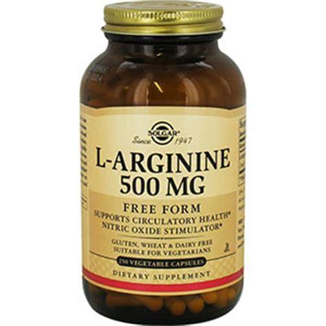 l arginine vegetables solgar l arginine 500 mg vegetable 500 mg 250 capsules