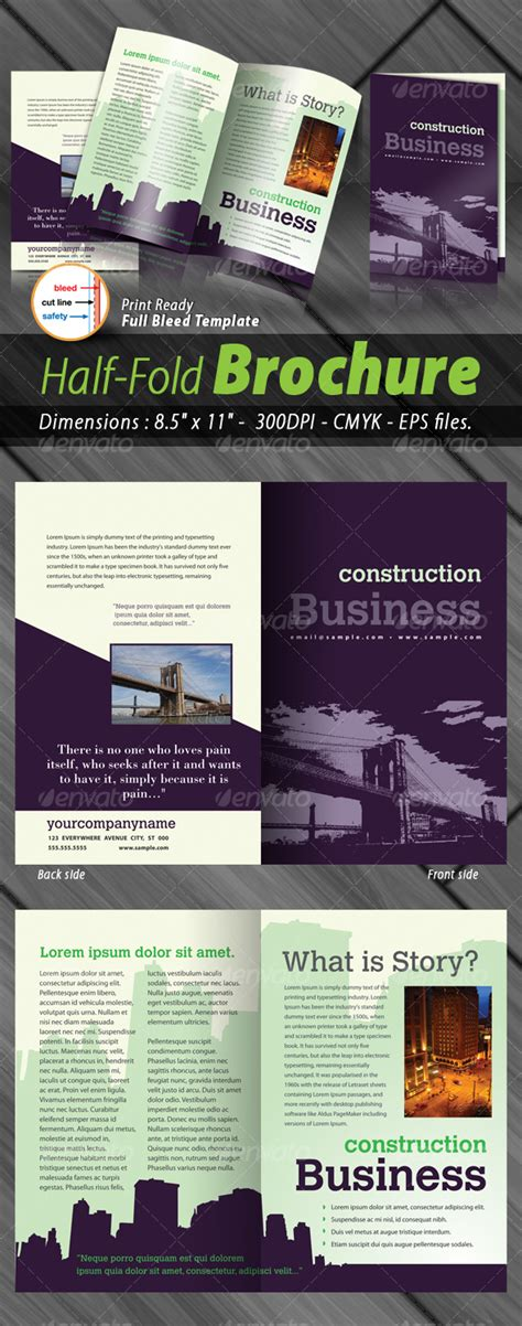 Half Page Brochure Template by Calenders Half Page 187 Dondrup