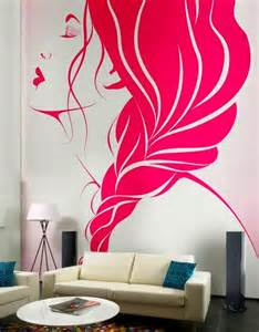 Creative wall art idea with wall mural painting made easy and colorful