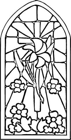 ausmalbild glasmalerei kostenlos zum