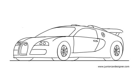 learn how to draw bugatti veyron sports cars step by how to draw a sports car bugatti veyron junior car designer