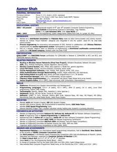 Latest Cv Format For Engineers   Resume Template Example