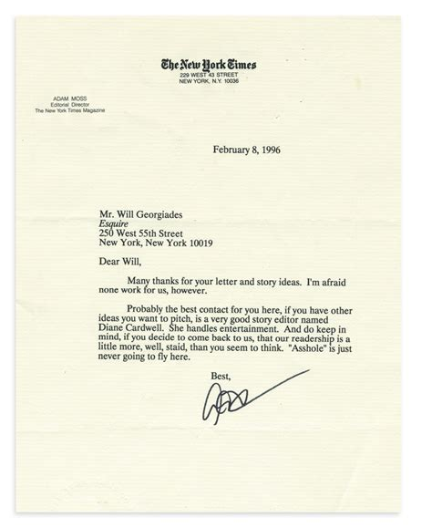 Rejection Letter Of The Year Other S Rejection Letters Book Clarkson Potter