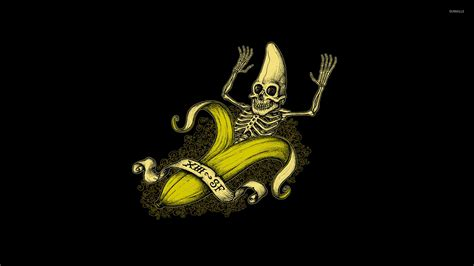 banana funny wallpaper banana skeleton wallpaper funny wallpapers 21037