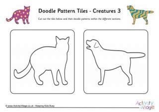 doodle pattern tiles vet colour by pattern