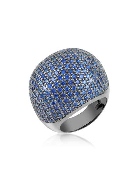 Blue Cubic Zirconia Ring 18 azhar blue cubic zirconia fashion ring in blue lyst