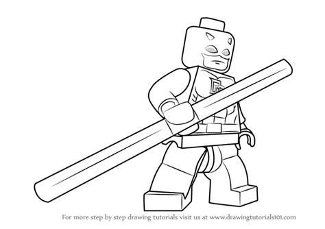 Lego Daredevil Coloring Pages | learn how to draw lego daredevil lego step by step