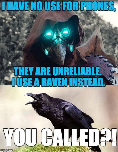 Raven Meme - you were probably wondering about that raven once or twice