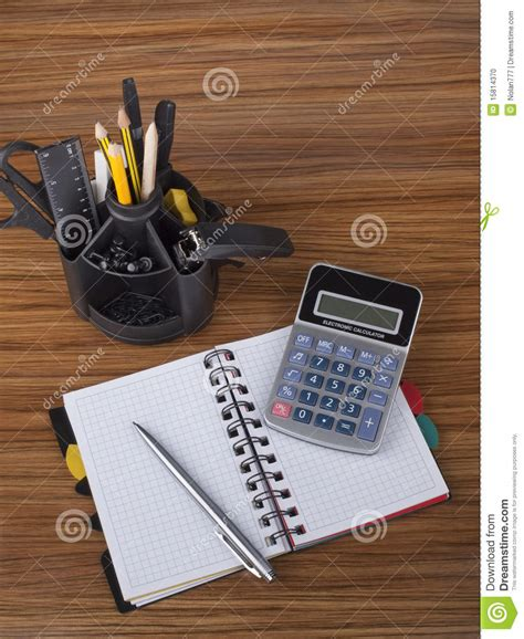 Office Desk Tools Desk Organizer With Office Tools Stock Photo Image 15814370