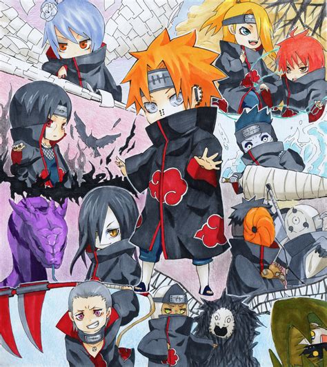 Kaos Deidara Akatsuki Chibi Boruto Anime akatsuki akatsuki photo 21630353 fanpop
