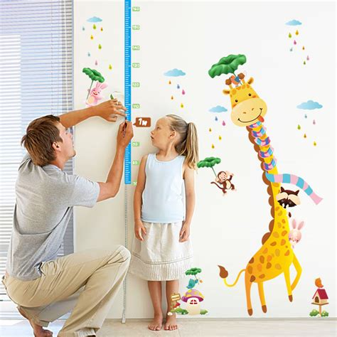 Childrens Wall Decor Stickers aliexpress com buy removable kids growth measure chart