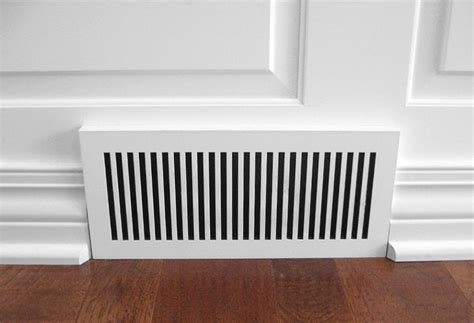 laminated custom geometric baseboard heat registers