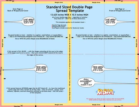 magazine layout measurements standard sized double page spread template ka blam