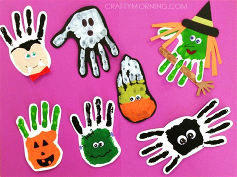 hallowen crafts for adorable handprint footprint crafts crafty morning
