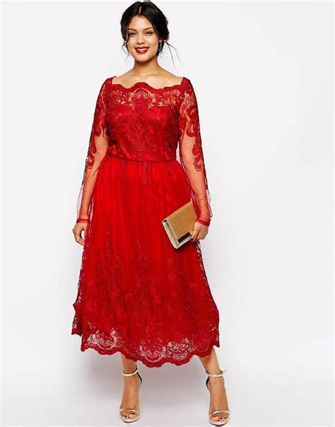 Stunning Red Plus Size Evening Dresses Sleeves Square Neckline Lace Appliqued A Line Prom Gowns