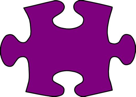 barney purple jigsaw puzzle piece large clip art vector