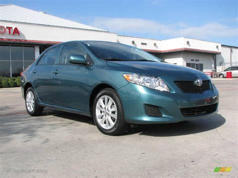 2009 sea green metallic toyota corolla le 2084056 gtcarlot car color galleries