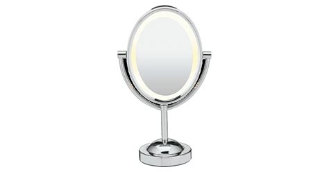 conair oval sided lighted mirror conair sided lighted oval mirror
