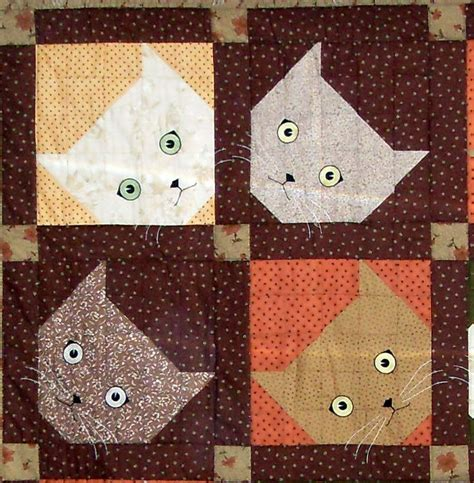 Patchwork Cat Quilt Block Patterns - 25 best cat quilt patterns trending ideas on