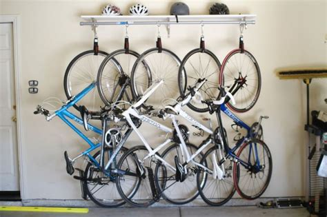 Garage Bike Storage Diy Bike Rack For 90 Bucks Heavy Duty Velcro Straps