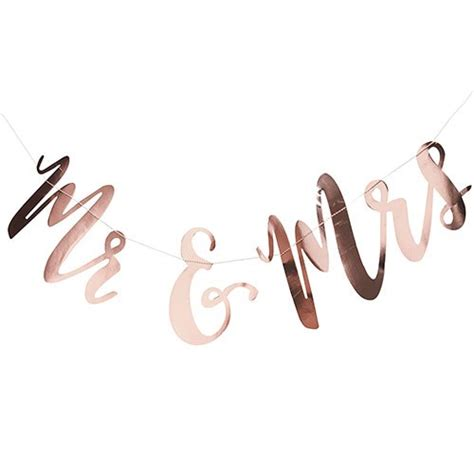 Wedding Banner Mr And Mrs by Mr And Mrs Wedding Banner Gold Metallic Confetti