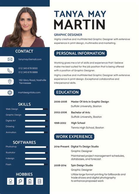 Graphic Resume by Resume Template 42 Free Word Excel Pdf Psd Format