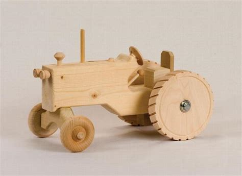 Handmade Wood Toys - handmade wooden tractor