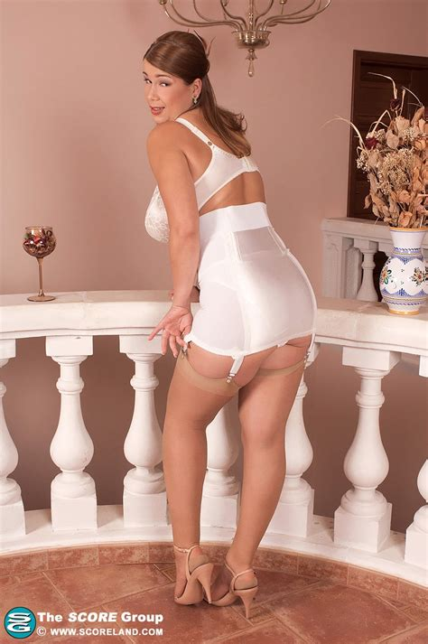 Horny Terry Nova In White Lingerie