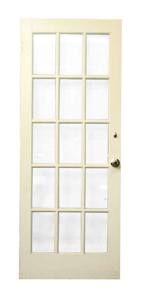 White Wood 15 Glass Panel Door Olde Good Things White Interior Doors With Glass Panel
