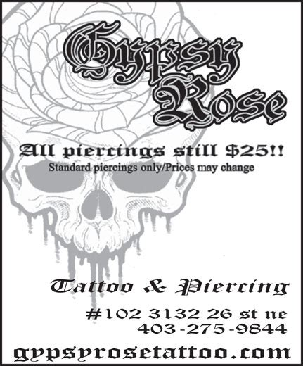 gypsy rose tattoo calgary calgary ab 101 3132 26 st ne canpages