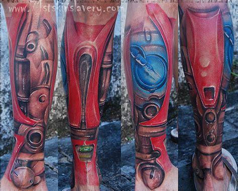 full body iron man tattoo iron man leg tattoo