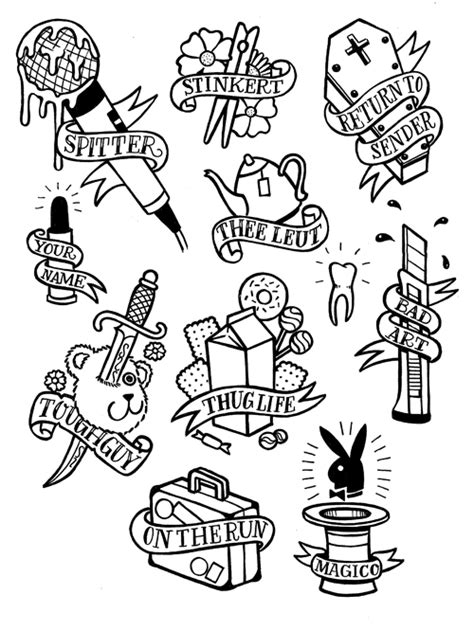 tattoo flash art for men styles school flash for