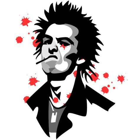 cartoon wallpaper portrait sid vicious vector portrait by vectorportal on deviantart
