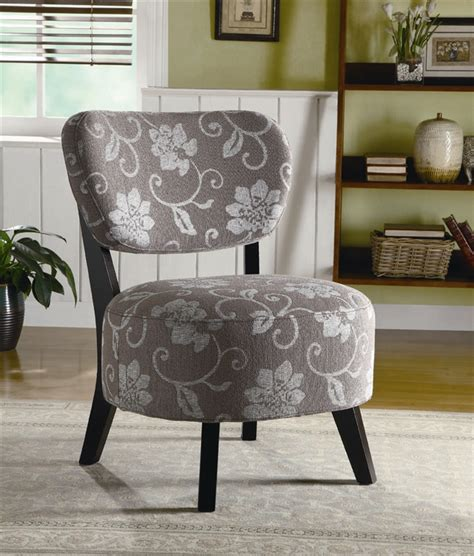 Grey And White Accent Chair by Grey And White Floral Fabric Accent Chair By Coaster 900419