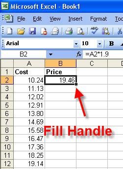 excel 2010 how to use fill handle tutorial tips and fill handle excel technology applications