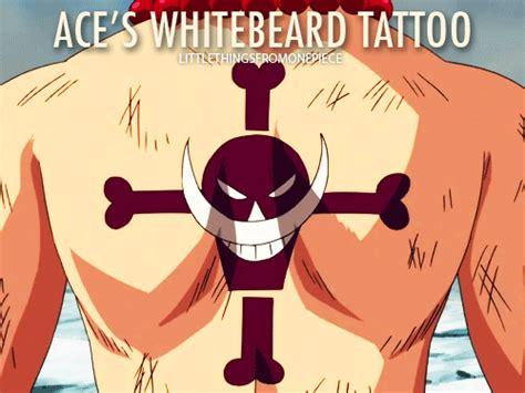 one piece ace whitebeard tattoo aces whitebeard tatoo gifs on giphy