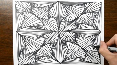 pattern drawing method sketch doodle line illusion technique 6 youtube