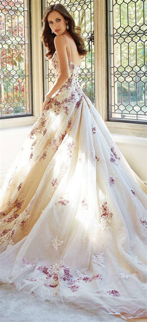 flower design wedding dresses sophia tolli fall 2014 bridal collection belle the magazine