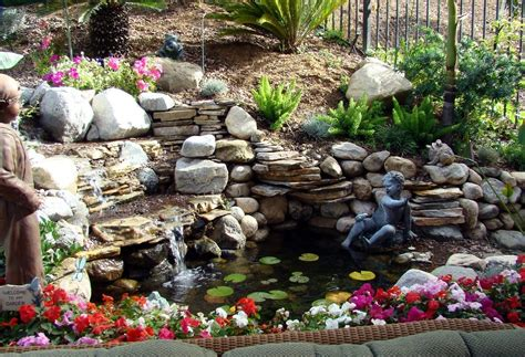 Backyard Waterfall Ideas Waterfalls Striking Complement To Backyard Layout